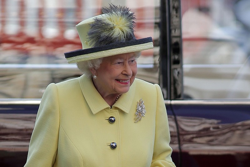 Britain's Queen Elizabeth II arrives to attend a Commonwealth Day Service at Westminster Abbey in central London, on March 13, 2017. (AFP Photo)