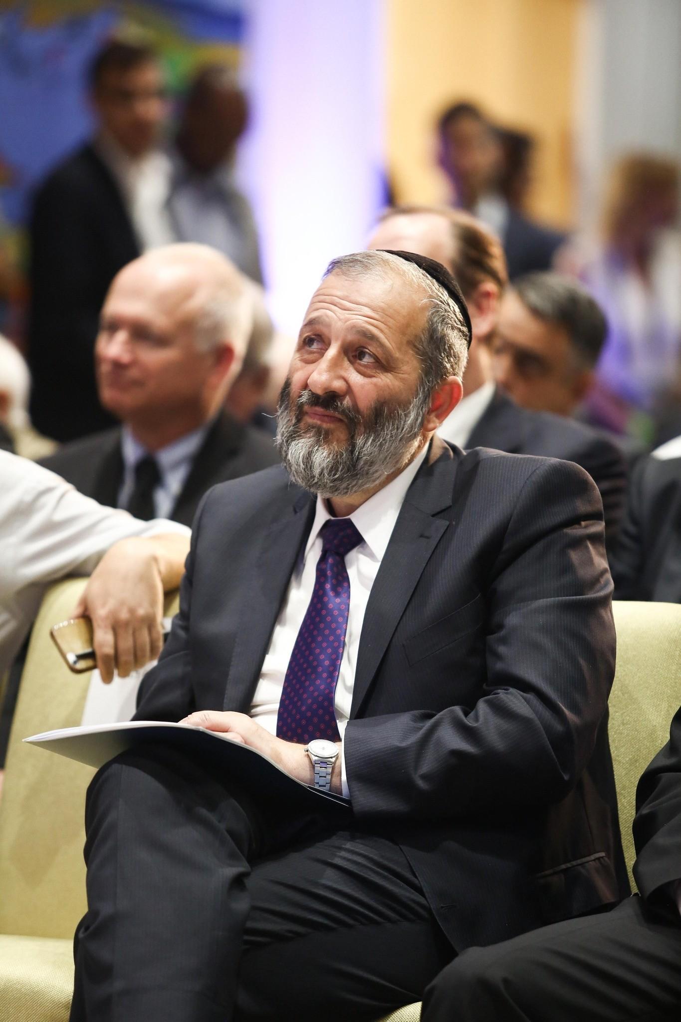Israeli Interior Minister Aryeh Deri at the Herzliya Conference in June 2016. (Photo by Adi Cohen Zedek)