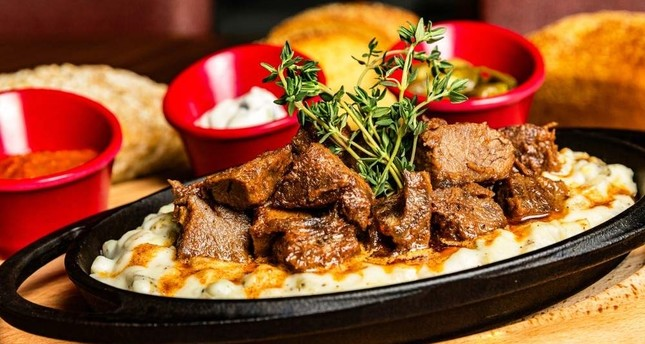 The Gaziantep specialty is usually served with rice or strained yogurt with garlic and melted butter.