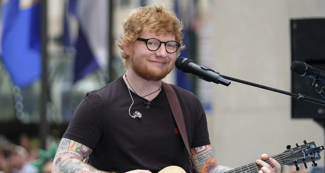 Ed Sheeran performs on NBC's Today show at Rockefeller Plaza on Thursday, July 6, 2017, in New York. (AP Photo)
