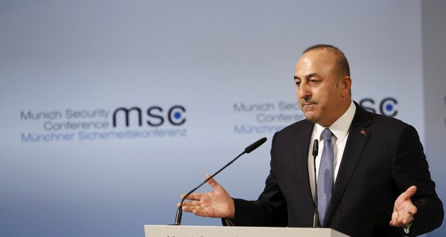 Turkish Foreign Minister Mevlüt Çavuşoğlu delivers his speech during the 53rd Munich Security Conference in Munich, Germany, February 19, 2017. (REUTERS Photo)