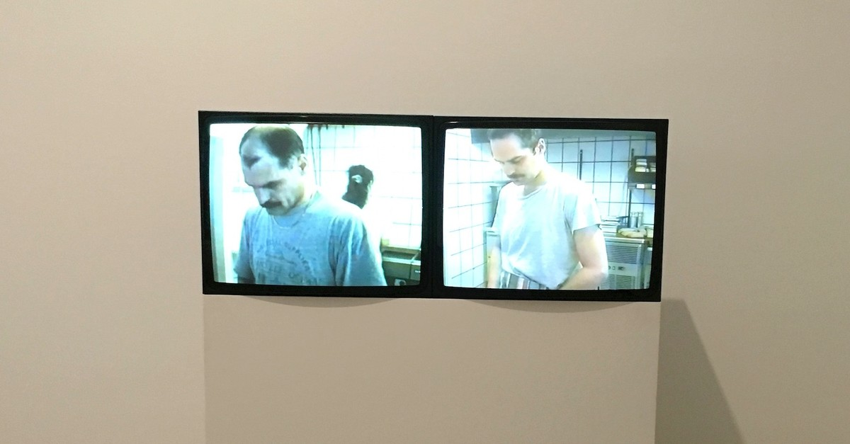 Deniz Erou011fluu2019s u201cBaba Diptychu201d features the footage of his father in his Kebap du00f6ner shop in Denmark.