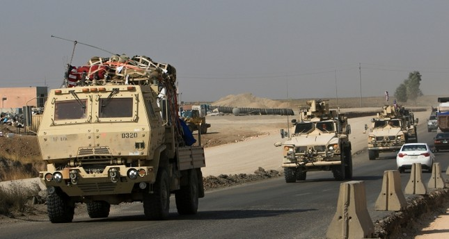 A convoy of U.S. vehicles is seen after withdrawing from northern Syria, at the Iraqi-Syrian border crossing in the outskirts of Dohuk, Iraq, Oct. 21, 2019. (Reuters Photo)