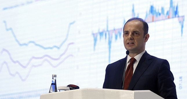 Central Bank of the Republic of Turkey (CBRT) Governor Murat Çetinkaya gives report updating inflation rate estimates on July 31, 2018. (AA Photo)