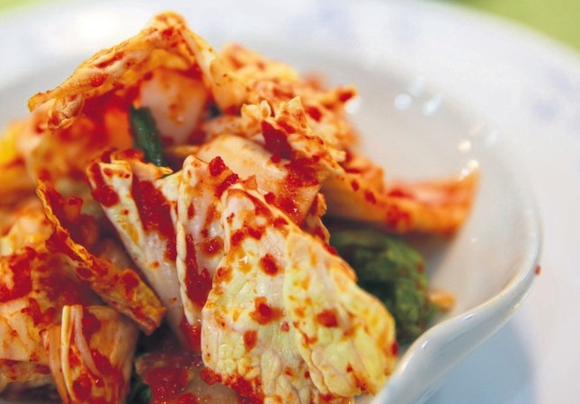 Kimchi is a side dish served with the main course in South Korea.