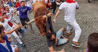 Famed Spanish bull run festival ends with 8 people gored this year