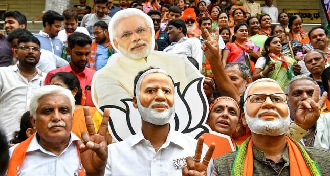 حزب بهاراتيا جاناتا الهندي بزعامة مودي يعلن فوزه في الانتخابات التشريعية