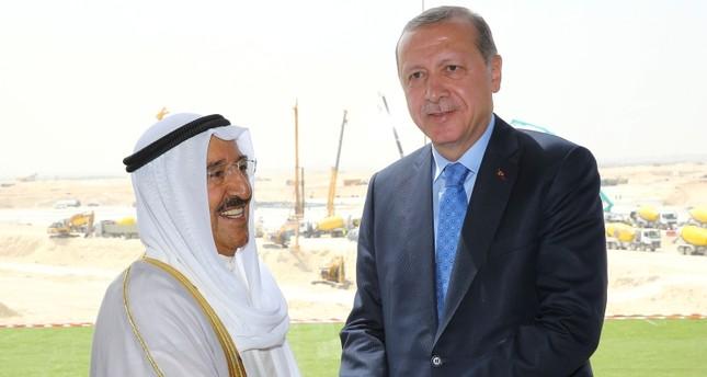 أردوغان وأمير الكويت يشددان على أهمية تعزيز العلاقات