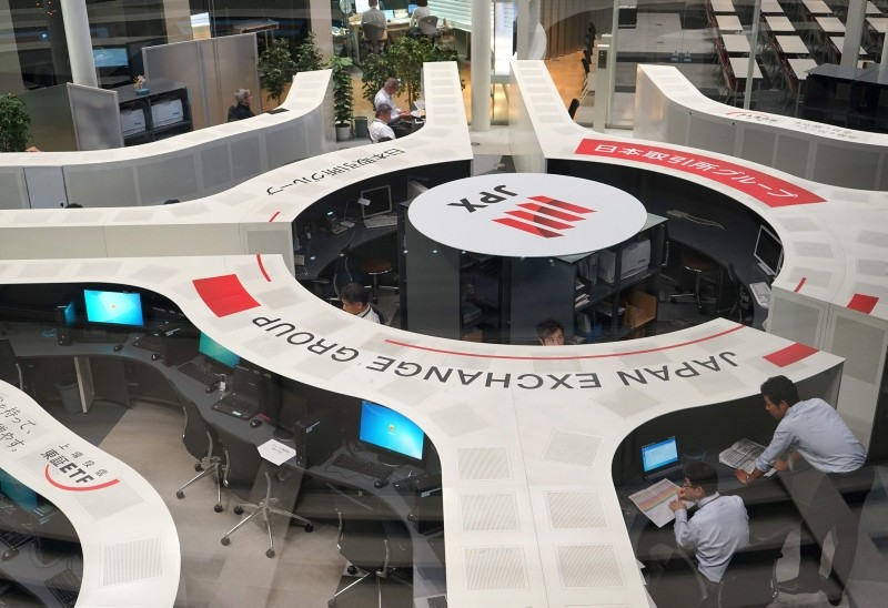 A general view of the Tokyo Stock Exchange in Tokyo, Japan, Aug. 3, 2018. (AFP Photo)