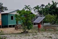 Solar panels in Amazon bring electricity, cut greenhouse gases