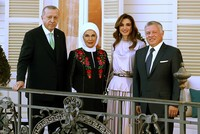 Erdoğans host Jordan's King Abdullah, Queen Rania for dinner in Istanbul