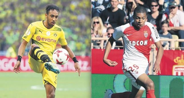 Aubameyang, Mbappe top transfer wish lists