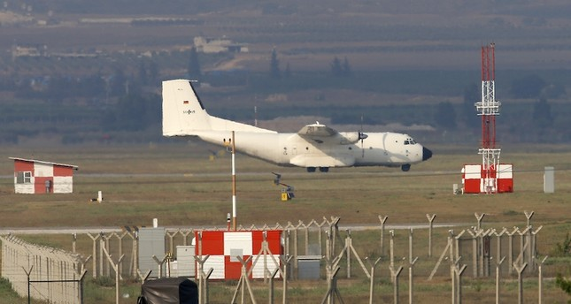 A German Air Force cargo plane maneuvers on the runway after it landed at the Incirlik Air Base, in the outskirts of the city of Adana, southern Turkey. AP Photo