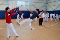 Eyeing Olympics, Syrian children learn taekwondo at Kilis refugee camp