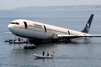 Airbus submerged in Turkey's Edirne for diving tourism