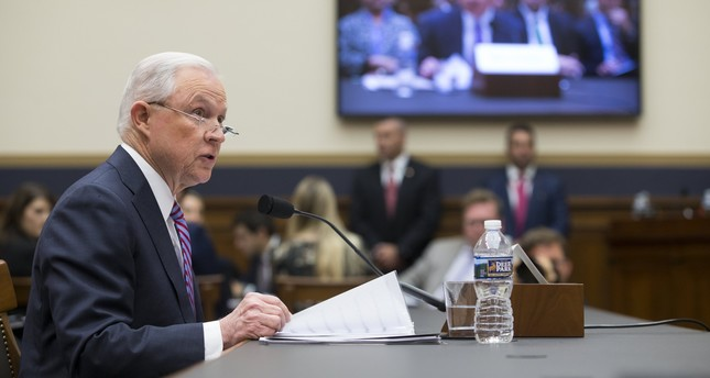 US Attorney General Jeff Sessions testifies before the House Judiciary Committee hearing on oversight of the Justice Department on Capitol Hill in Washington, DC, USA, 14 November 2017.  (EPA Photo)