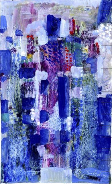 Ahmet u00d6zel, ,Gate of the Paradise,, 77x40 cm.