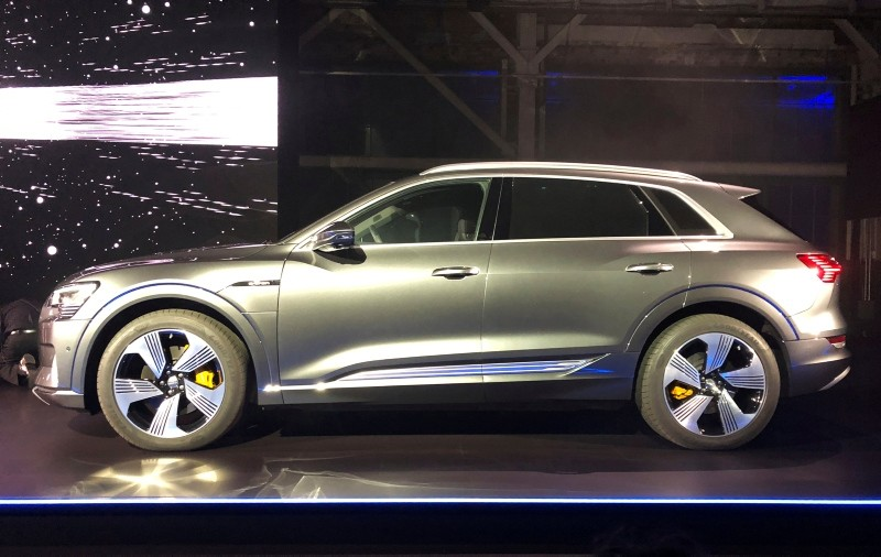 Audi unveils its first production all-electric vehicle, the e-tron sport utility vehicle at an event in Richmond, California, U.S. September 17, 2018. (Reuters Photo)