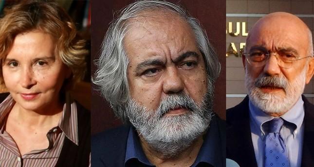 Journalists Nazlı Ilıcak L, Ahmet Altan R and academic Mehmet Altan C