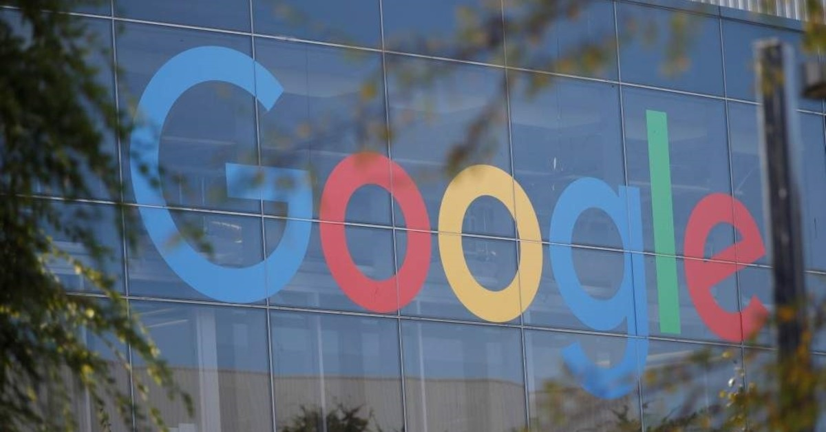 A Google logo is seen at the company's headquarters in Moutain View, California, U.S., Nov. 1, 2018. (Reuters Photo)