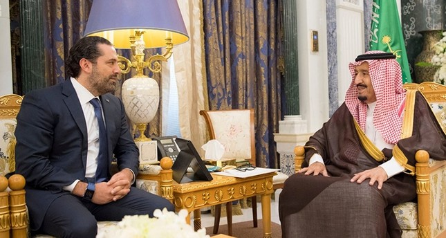 Saudi Arabia's King Salman bin Abdulaziz Al Saud meets with former Lebanese Prime Minister Saad al-Hariri in Riyadh, Saudi Arabia November 6, 2017. (Reuters Photo)