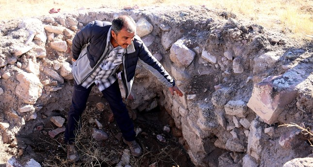In Turkey's Cappadocia region, Nevşehir province, an approximately 5,000-year-old fortress dating to the Early Bronze Age was found by archaeologists. (AA Photo)