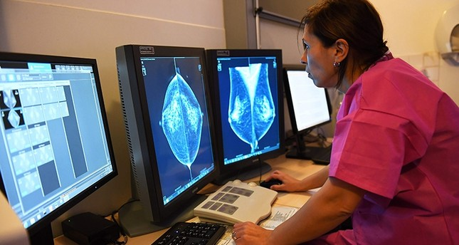 This file photo taken on October 9, 2017 shows a patient having a breast ultrasound, at the Paoli-Calmette institute, a fight against cancer regional center. (AFP Photo)