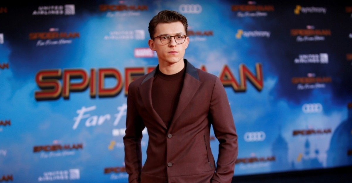 Actor Tom Holland poses at the World Premiere of Marvel Studios' ,Spider-man: Far From Home, in Los Angeles, June 26, 2019. (Reuters Photo)