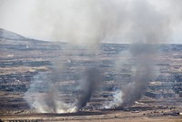 Israel retaliates against mortar fire from Syria