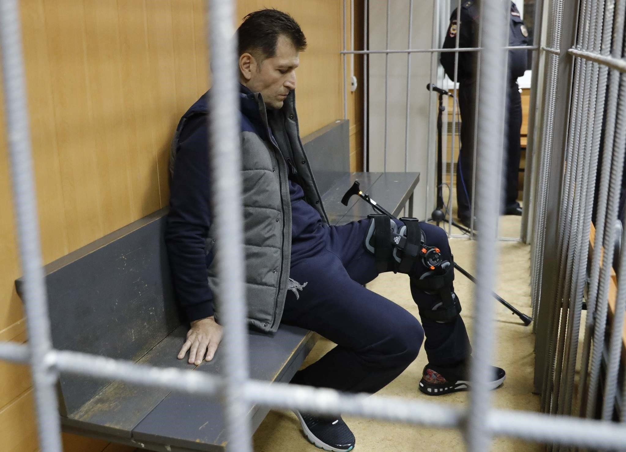 Magomed Magomedov, a business partner and brother of co-owner of Russia's Summa group Ziyavudin Magomedov, attends a hearing on his detention at the Tverskoy District Court in Moscow, Russia (Reuters Photo)