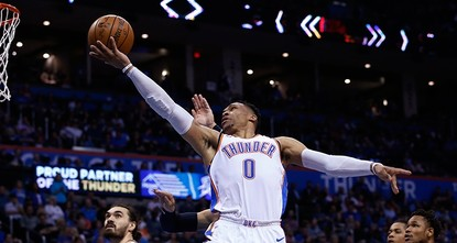 Thunder's Westbrook records second straight triple-double NBA season