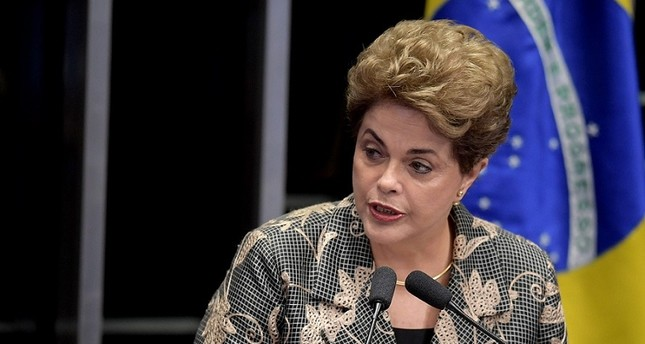 Suspended Brazilian President Dilma Rousseff delivers a speech during her testimony on the impeachment trial at National Congress in Brasilia on August 29, 2016. (AFP Photo)