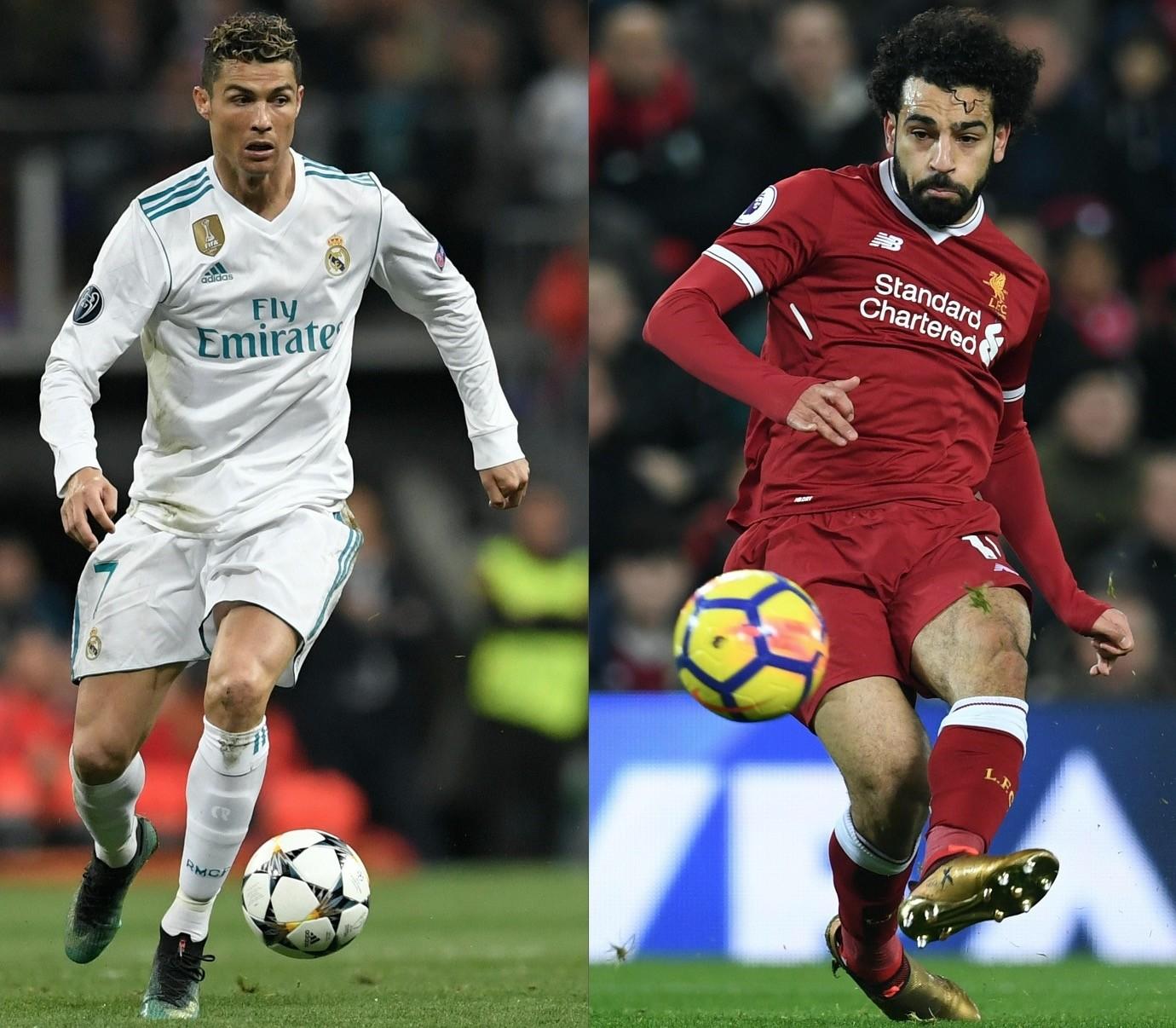Ronaldo (L) and Salah