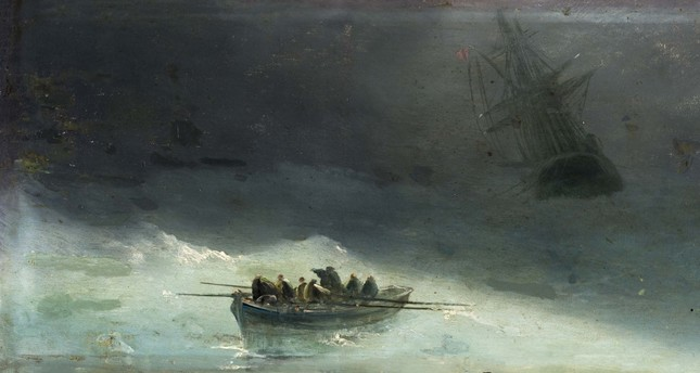 Fausto Zonaro, Boat in the Storm is one of the works displayed in the new exhibit hall.