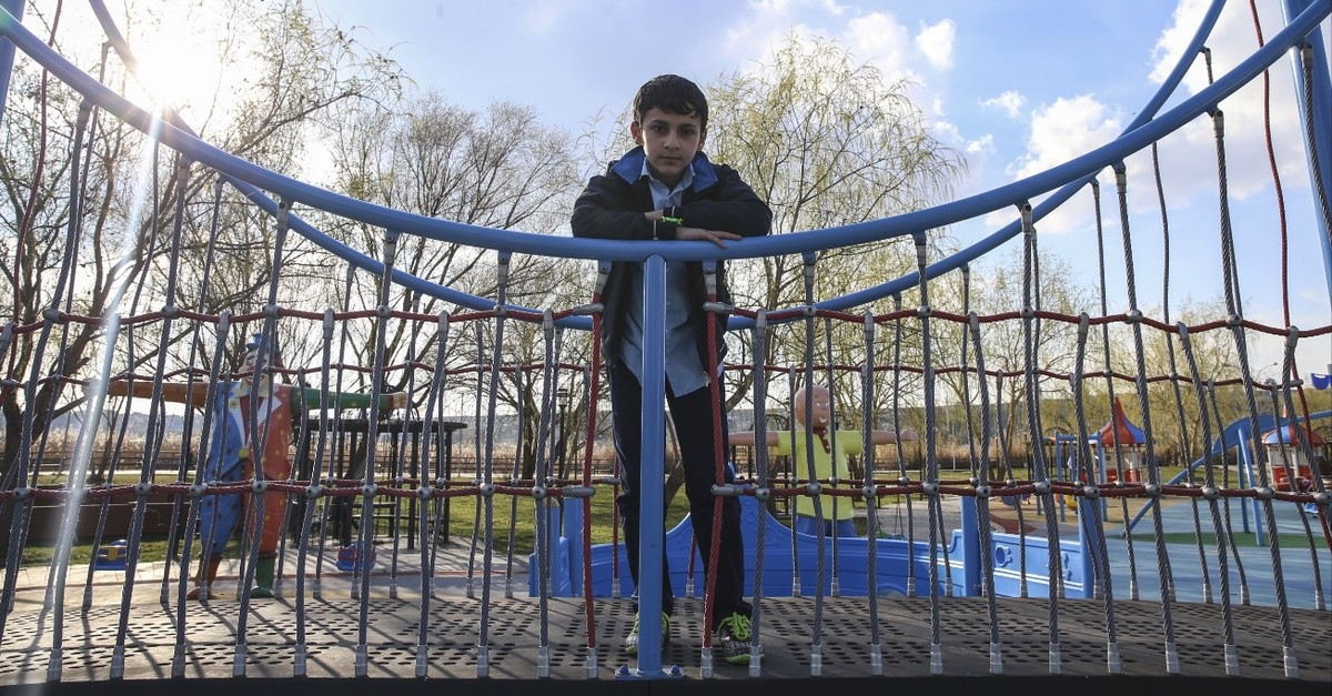 Palestinian refugee Obaida Shehada, 11, wants to be a pilot when he grows up.