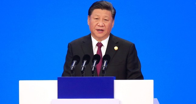 Chinese President Xi Jinping speaks at the opening ceremony for the China International Import Expo in Shanghai, Monday, Nov. 5, 2018. (AP Photo)