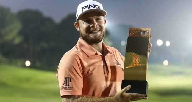 Tyrrell Hatton is the winner of this year's Turkish Airlines Open Golf Tournament. (AA Photo)