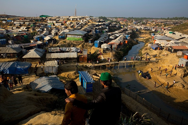 In this Friday, Jan. 19, 2018, photo, an overview of Rohingya refugees squalid camp near Cox's Bazar, Bangladesh. (AP Photo)