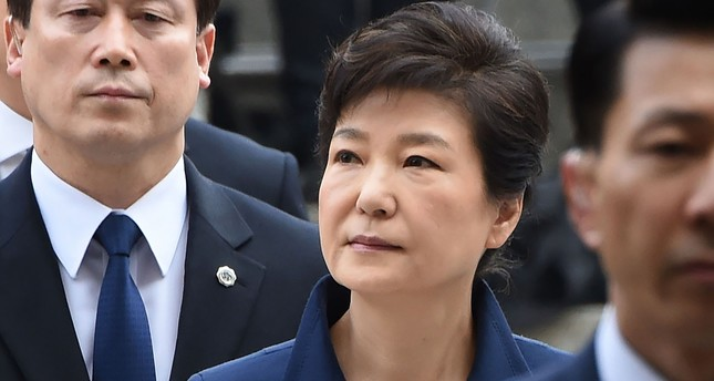 Bildergebnis für South Korea's ousted leader Park Geun-Hye arrested
