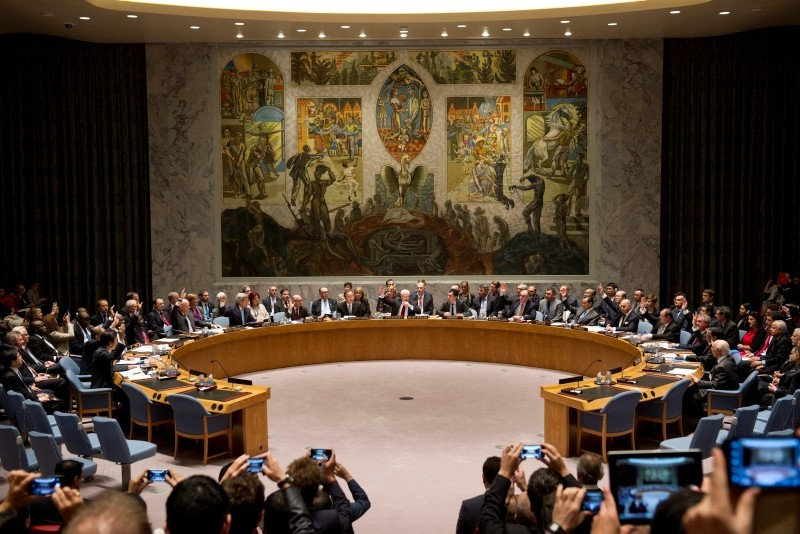 U.N. Security Council meeting in New York. (AA Photo)