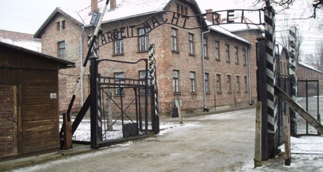 The famous Work sets you free sign is seen at the entrance of the Auschwitz concentration camp where Jews were tortured and killed by the Nazi Germany.