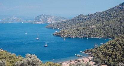 pLocated in Muğla's Dalaman district, Sarsala Bay is the blue boy of vacationers in fall with temperatures above seasonal norms and natural and historical sites./p  pIn addition to its natural...