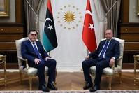 أرشيفية- أردوغان مع فايز السراج رئيس المجلس الرئاسي لـحكومة الوفاق الوطني الليبية