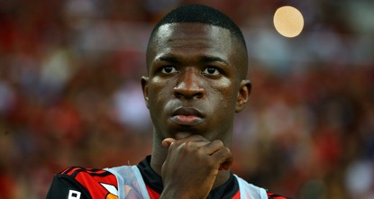 pReal Madrid have reached an agreement with Brazilian side Flamengo to sign 16-year old forward Vinicius Junior in July 2018, the two clubs announced on Tuesday./p