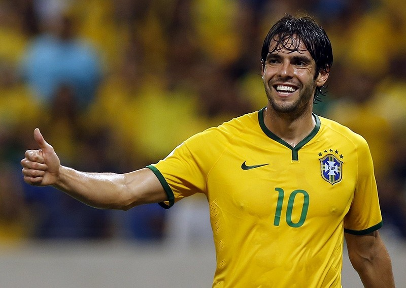 Kaka of Brazil reacts during their 2018 World Cup qualifying soccer match against Venezuela in Fortaleza, Brazil, Oct. 13, 2015. (Reuters Photo)