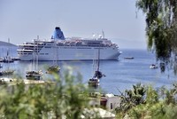 The first transatlantic cruise ship of the season has called at Ege Ports Liman in western Turkey's Kuşadası with a total of 2,739 passengers.  The ship called