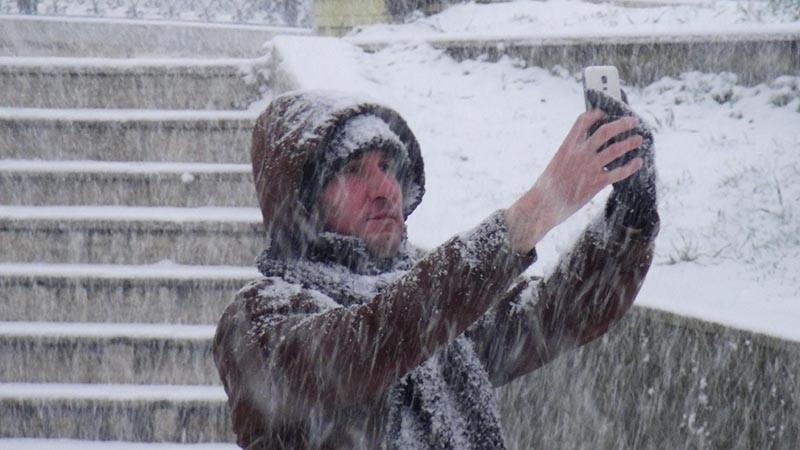 Turkey's northwest Edirne province blanketed in snow (DHA photo)