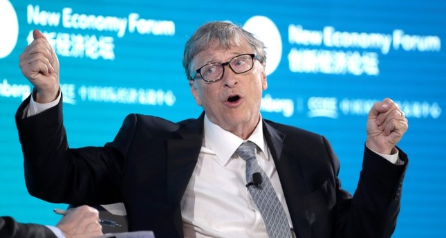 Bill Gates, Co-Chair of Bill & Melinda Gates Foundation, attends a conversation at the 2019 New Economy Forum in Beijing, China Nov. 21, 2019. Reuters File Photo