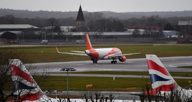 In this file photo taken on December 21, 2018 an EasyJet aircraft prepares to take off from the runway at London Gatwick Airport, south of London, as flights resumed following the closing of the airfield due to a drones flying. (AFP Photo)