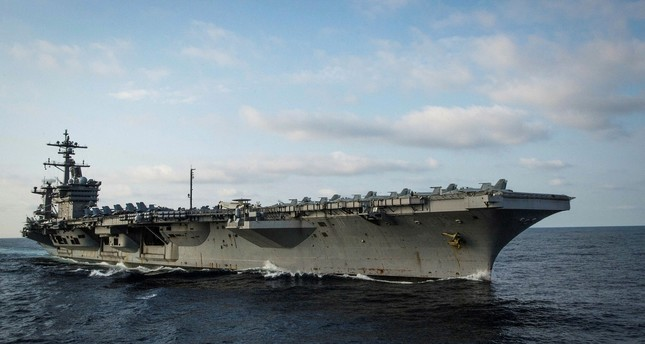 U.S. Navy aircraft carrier USS Carl Vinson in the Pacific Ocean, May 27, 2017.